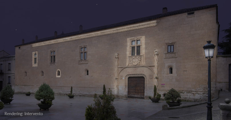 Palacio de Montarco featuring architectural details highlighted with Rosco Image Spots.