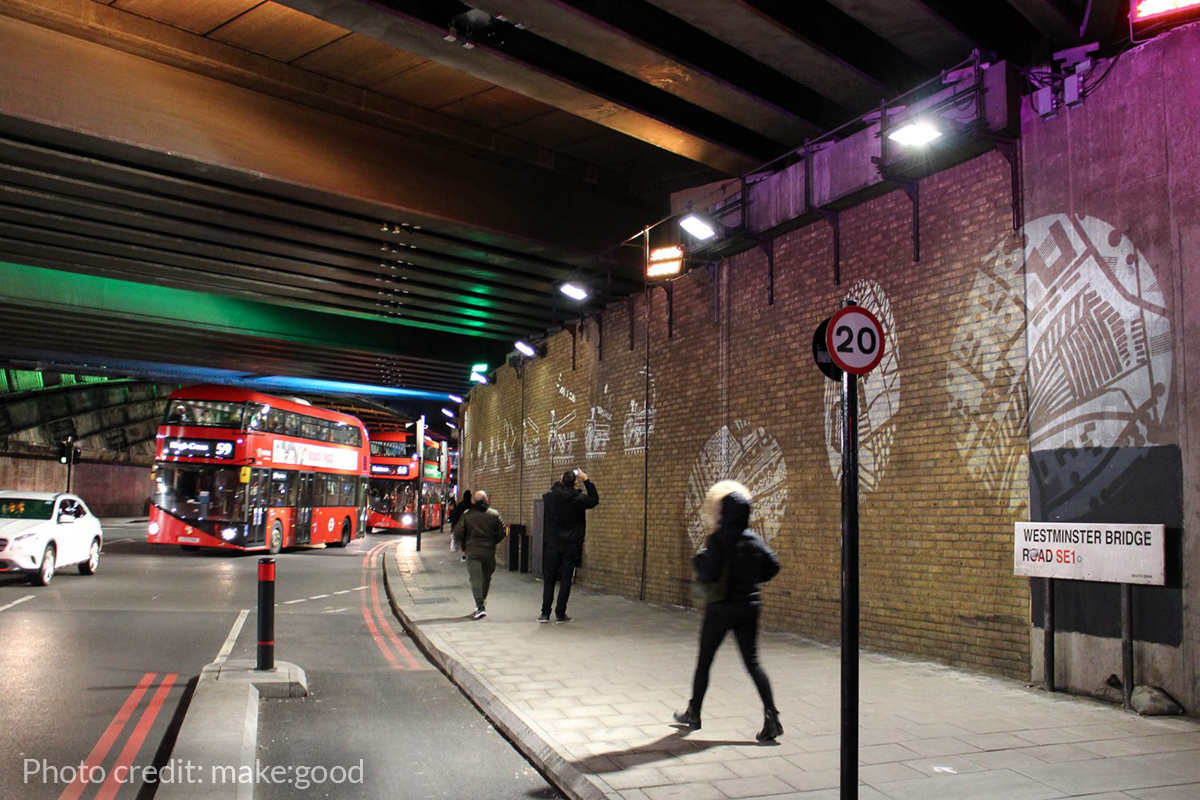 New light unveiled on Westminster Bridge Road.