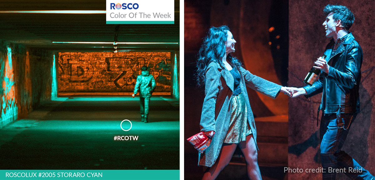 Color of the week featuring Roscolux #2005 Storaro Cyan